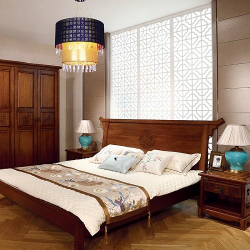 经典实木 现代简约双人床 四门衣柜 门厅柜-IMGL6929