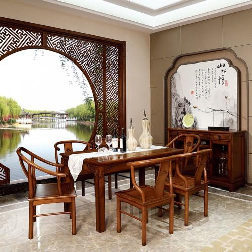 简约实木 经典中式长方形餐桌-IMGL6956