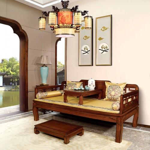 新中式   简约实木客厅卧室罗汉床-IMGL6960