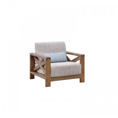 单人沙发简约布沙发P-SF801K