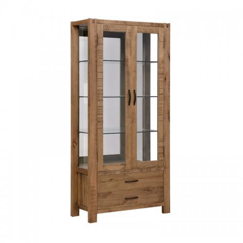 实木餐厅酒柜 玻璃门展示柜P-BG801