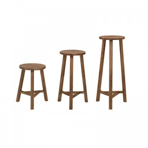 北欧原生态实木高脚椅P-G802(A-B-C)