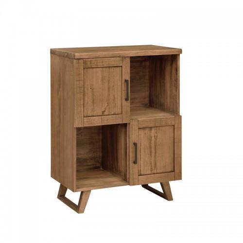 北欧原生态实木多工能书柜P-D803B
