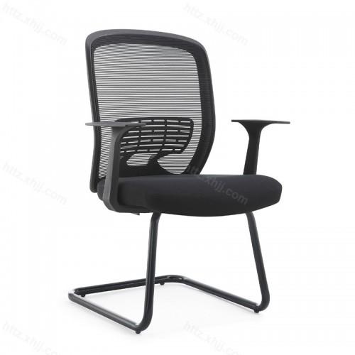 弓形家用椅网布简约职员椅办公室座椅W017