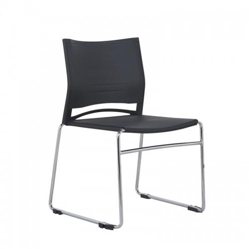 会议网布椅座椅弓形培训接待椅W001