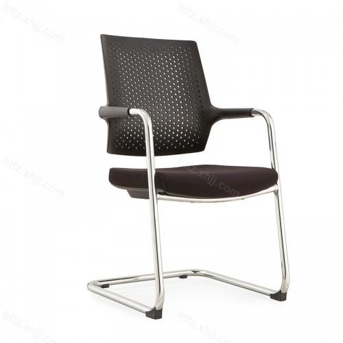 现代会客椅弓形带扶手钢制脚电脑椅W029