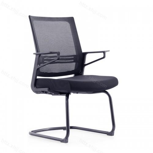 会议椅透气椅网布弓形钢制脚W034