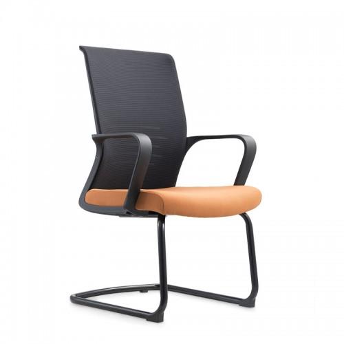 现代会议椅弓形人体工学员工椅W042