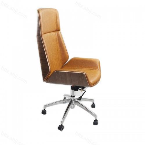 牛皮艺大班椅可升降可躺可旋转P005