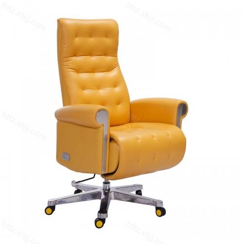 真皮大班椅办公椅子人体工学椅可躺P025