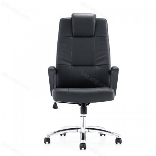 简约真皮座椅转椅办公椅P038