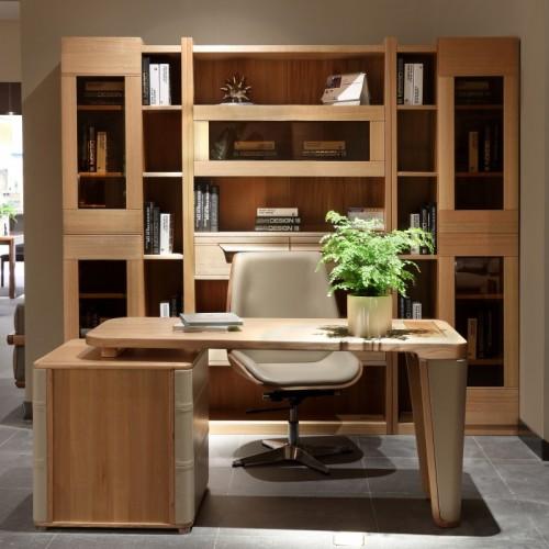 个性简约实木书桌书柜 办公书桌-9K1A4097