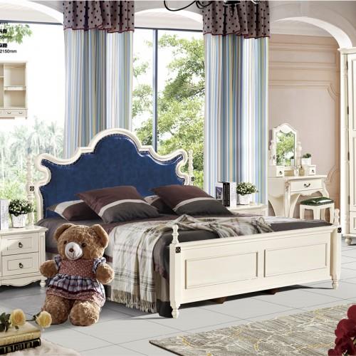 北欧现代简约美式床衣柜梳妆台套房703