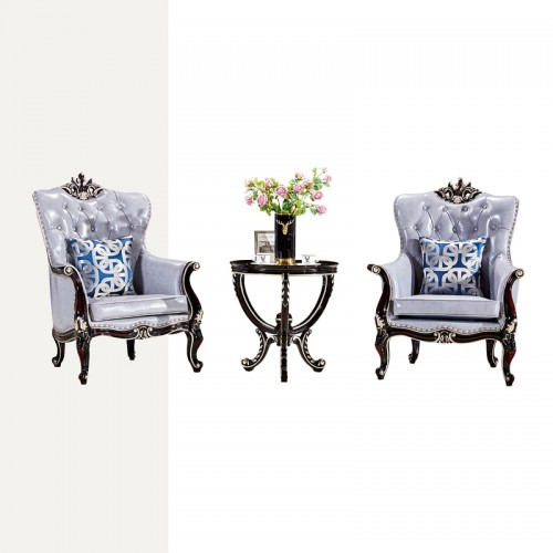 欧式简约休闲沙发椅L8845