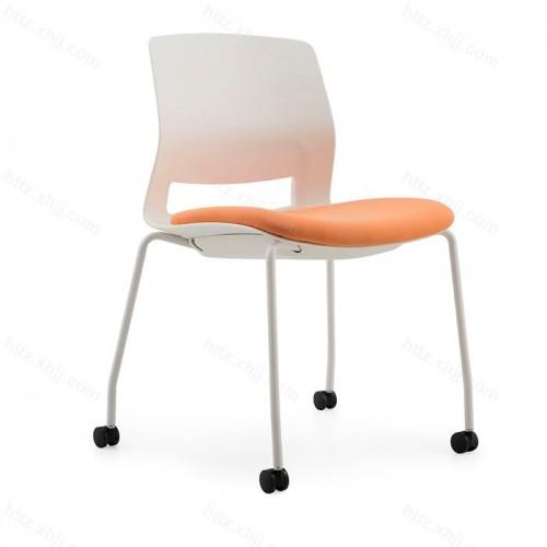 移动会议椅办公椅滑轮培训椅40