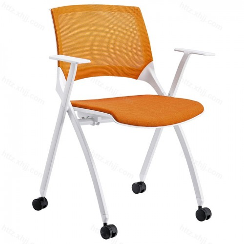 培训带写字板折叠椅简约透气网布会议椅子33