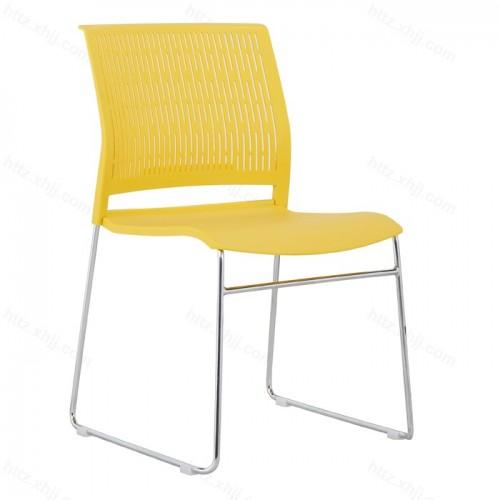 简约办公椅弓形会议椅子透气会客洽谈座椅27