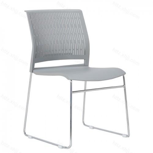简约办公弓形无扶手椅会议椅透气舒适塑钢椅26