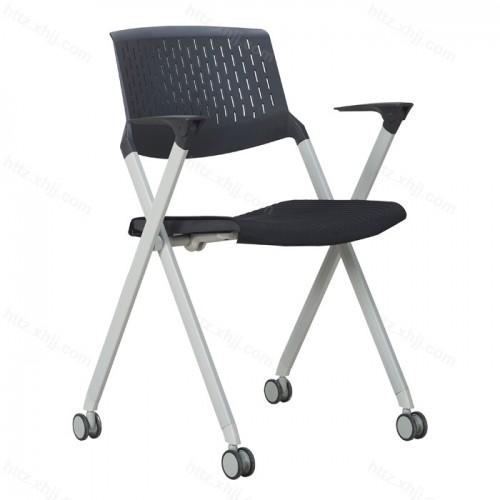 简约可折叠带写字板培训椅会议椅25