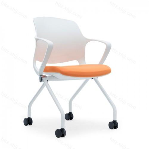 简约移动可折叠培训椅接待椅洽谈椅18