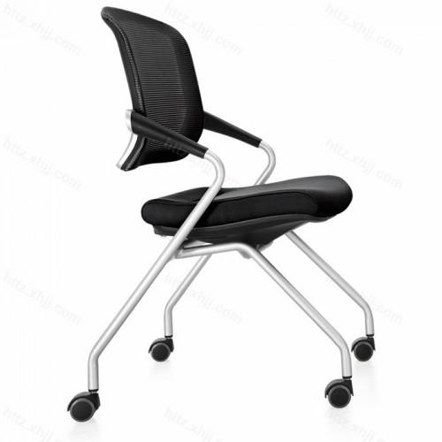 多色可移动折叠培训椅 靠背椅 会议椅13
