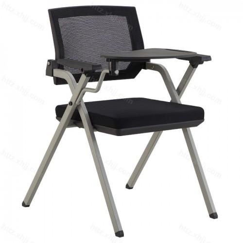 简约网布办公室带写字板可移动培训椅会议椅04