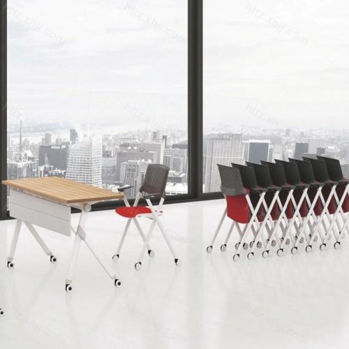 可折叠移动长条桌培训桌面试桌会议桌04