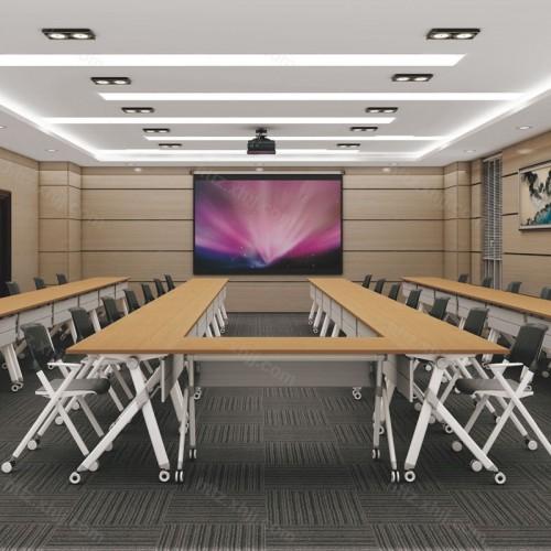 大型可移动多人位培训桌会议桌06