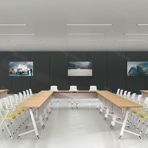 简约可移动大型培训桌会议桌09