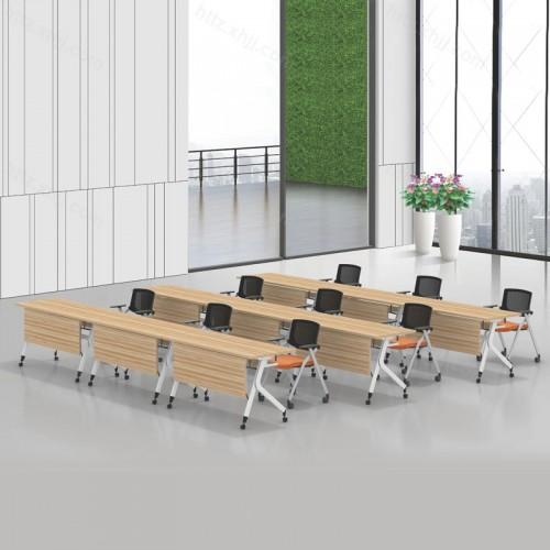 简约可移动折叠多人位培训桌会议桌11