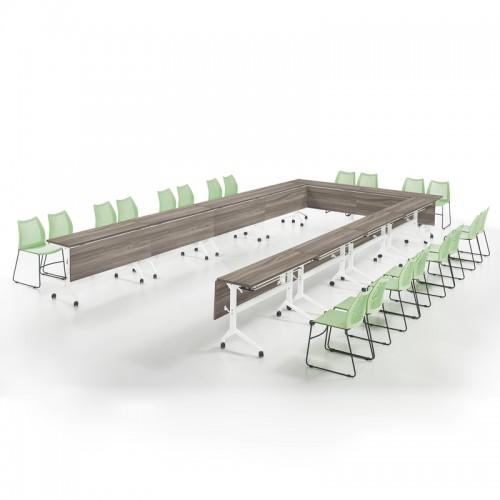 简约可移动长条多人位培训桌会议桌14