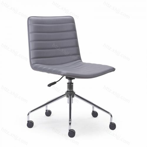 靠背可移动无扶手办公椅 会议椅子 洽谈椅07