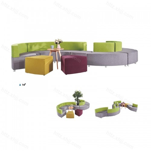 办公室沙发接待洽谈区沙发茶几组合17