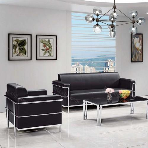 现代休息室商务会客办公沙发茶几38