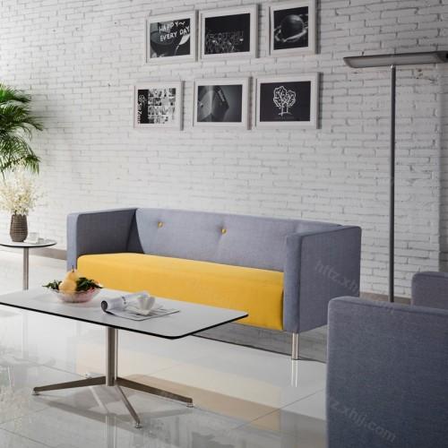 简约时尚办公布艺沙发套装05