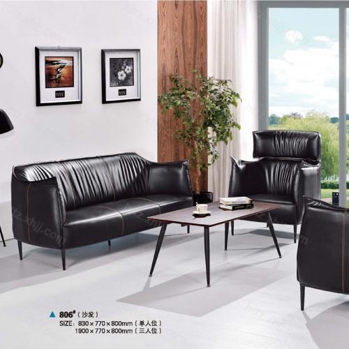 简约现代时尚真皮办公沙发组合57