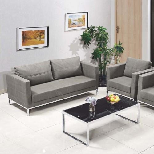 简约布艺办公沙发会客室接待沙发茶几组合65