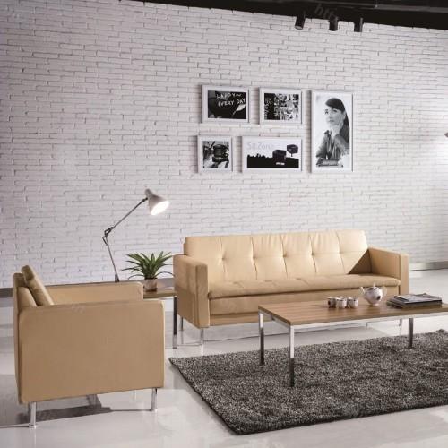 简约现代不锈钢架沙发商务沙发17