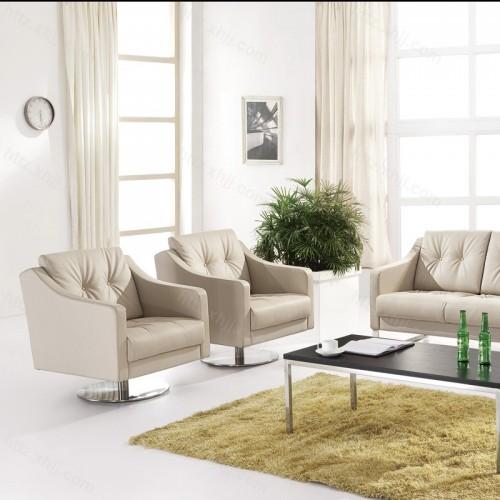 简约不锈钢腿办公沙发商务沙发19