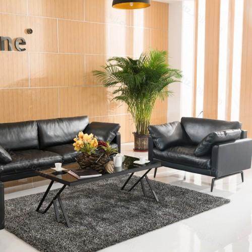 办公沙发茶几组合 商务会客接待真皮沙发28