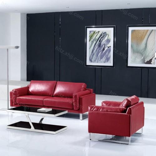 时尚办公室接待沙发 真皮办公沙发34