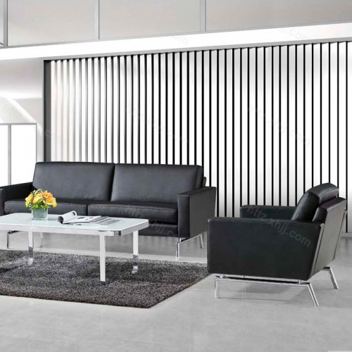 简约现代商务沙发 办公室三人位沙发40
