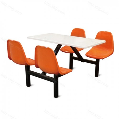 学校餐厅餐桌椅公司四人位食堂桌椅组合01