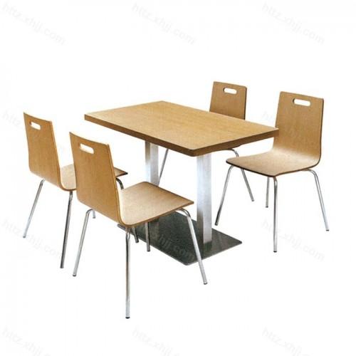 饭店餐厅 学校食堂分体四人位桌椅组合02