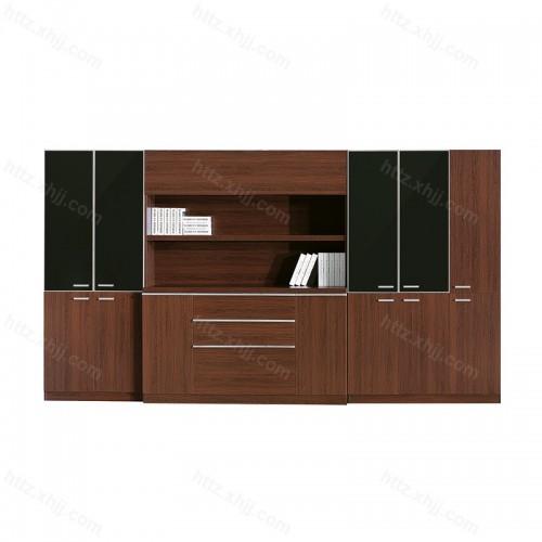 木质文件柜 板式带锁员工资料柜07