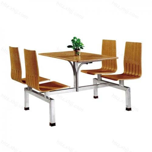 不锈钢桌架快餐食堂肯德基式快餐桌椅05