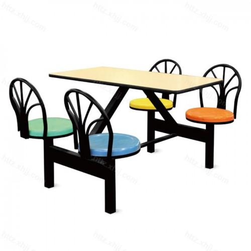 铁靠背餐桌椅 四人靠背餐桌椅 06