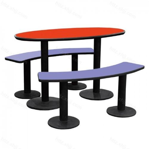 创意弧形食堂 快餐店餐桌椅 08
