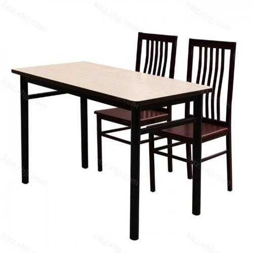 长方形餐桌快餐店餐桌椅 09