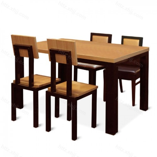 长方形靠背餐椅餐桌饭店餐桌椅 11